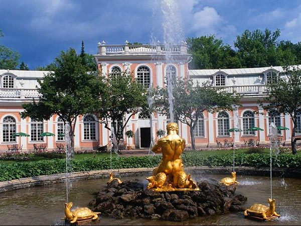 "The Orangery Fountain ""Triton"" in the Orangery Garden. Peterhoff"