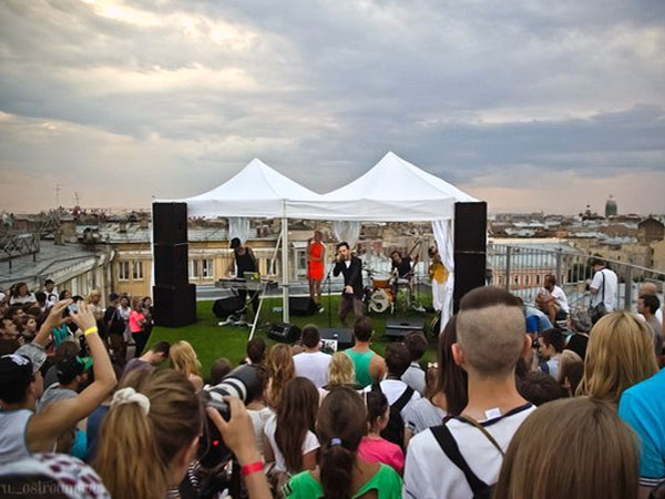 Roof Music Festival in St. Petersburg