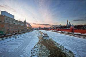 Moscow. The Moscow River