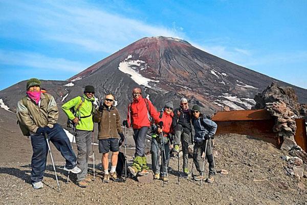 Trekking on volcanoes