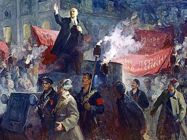 October Revolution in  Petrograd