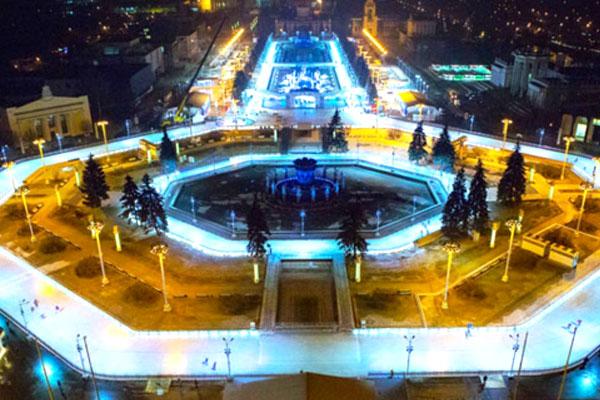 A unique skating rink at VDNH