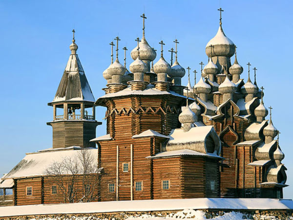 Kizhi churches, included in the UNESCO World Heritage List